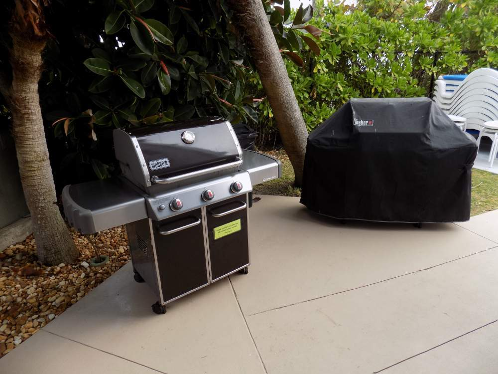 Two outdoor grills for guest use
